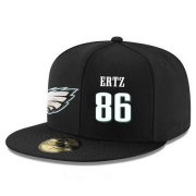 Wholesale Cheap Philadelphia Eagles #86 Zach Ertz Snapback Cap NFL Player Black with White Number Stitched Hat