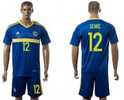 Wholesale Cheap Bosnia Herzegovina #12 Sehic Home Soccer Country Jersey