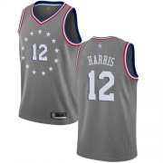 Wholesale Cheap 76ers #12 Tobias Harris Gray Basketball Swingman City Edition 2018-19 Jersey