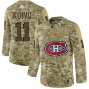 Wholesale Cheap Adidas Canadiens #11 Saku Koivu Camo Authentic Stitched NHL Jersey
