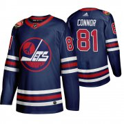 Wholesale Cheap Winnipeg Jets #81 Kyle Connor Men's 2019-20 Heritage Classic Wha Navy Stitched NHL Jersey