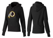 Wholesale Cheap Women's Washington Redskins Logo Pullover Hoodie Black