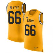 Wholesale Cheap Nike Rams #66 Austin Blythe Gold Men's Stitched NFL Limited Rush Tank Top Jersey