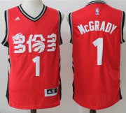 Wholesale Cheap Men's Toronto Raptors #1 Tracy McGrady Red Chinese Stitched 2017 NBA Revolution 30 Swingman Jersey