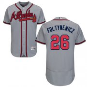 Wholesale Cheap Braves #26 Mike Foltynewicz Grey Flexbase Authentic Collection Stitched MLB Jersey