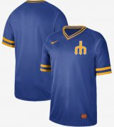 Wholesale Cheap Nike Mariners Blank Royal Authentic Cooperstown Collection Stitched MLB Jersey