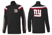 Wholesale Cheap NFL New York Giants Team Logo Jacket Black_2