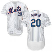 Wholesale Cheap Mets #20 Pete Alonso White(Blue Strip) Flexbase Authentic Collection Stitched MLB Jersey