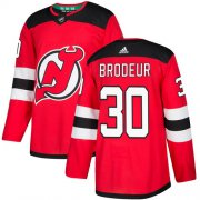 Wholesale Cheap Adidas Devils #30 Martin Brodeur Red Home Authentic Stitched NHL Jersey