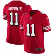 Wholesale Cheap Nike 49ers #11 Marquise Goodwin Red Team Color Men's Stitched NFL Vapor Untouchable Limited II Jersey