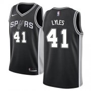Wholesale Cheap Nike Spurs #41 Trey Lyles Black NBA Swingman Icon Edition Jersey