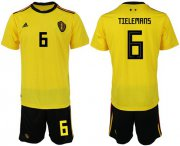 Wholesale Cheap Belgium #6 Tielemans Away Soccer Country Jersey