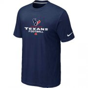 Wholesale Cheap Nike Houston Texans Critical Victory NFL T-Shirt Midnight Blue