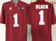 Wholesale Cheap Men's Alabama Crimson Tide #1 Chris Black Red 2016 BCS patch College Football Nike Limited Jersey