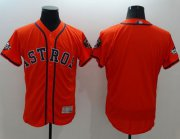 Wholesale Cheap Astros Blank Orange Flexbase Authentic Collection 2019 World Series Bound Stitched MLB Jersey