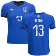 Wholesale Cheap Italy #13 Astori Home Kid Soccer Country Jersey