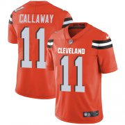Wholesale Cheap Nike Browns #11 Antonio Callaway Orange Alternate Men's Stitched NFL Vapor Untouchable Limited Jersey