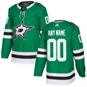 Wholesale Cheap Men's Adidas Stars Personalized Authentic Green Home NHL Jersey