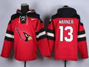 Wholesale Cheap Nike Cardinals #13 Kurt Warner Red Player Pullover NFL Hoodie
