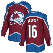 Wholesale Cheap Adidas Avalanche #16 Nikita Zadorov Burgundy Home Authentic Stitched NHL Jersey