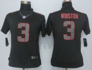 Wholesale Nike Buccaneers #3 Jameis Winston Black Impact Women's Stitched NFL Limited Jersey