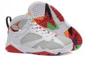 Wholesale Cheap Air Jordan 7 GS hare Shoes White/grey-red