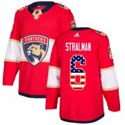 Wholesale Cheap Adidas Panthers #6 Anton Stralman Red Home Authentic USA Flag Stitched Youth NHL Jersey