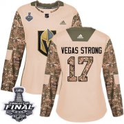 Wholesale Cheap Adidas Golden Knights #17 Vegas Strong Camo Authentic 2017 Veterans Day 2018 Stanley Cup Final Women's Stitched NHL Jersey