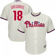 Wholesale Cheap Phillies #18 Didi Gregorius Cream Cool Base Stitched Youth MLB Jersey