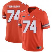 Wholesale Cheap Florida Gators 74 Jack Youngblood Orange College Football Jersey