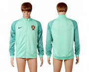 Wholesale Cheap Portugal Soccer Jackets Green