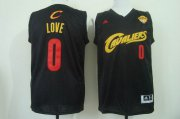 Wholesale Cheap Men's Cleveland Cavaliers #0 Kevin Love 2015 The Finals 2014 Black With Red Fashion Jersey
