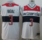 Wholesale Cheap Washington Wizards #3 Bradley Beal Revolution 30 Swingman White Jersey