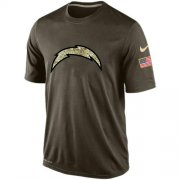 Wholesale Men's Los Angeles Chargers Salute To Service Nike Dri-FIT T-Shirt