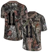 Wholesale Cheap Nike Jets #11 Denzel Mim Camo Youth Stitched NFL Limited Rush Realtree Jersey