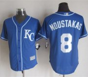 Wholesale Cheap Royals #8 Mike Moustakas Blue Alternate 2 New Cool Base Stitched MLB Jersey