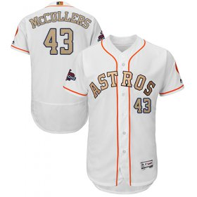 Wholesale Cheap Astros #43 Lance McCullers White FlexBase Authentic 2018 Gold Program Cool Base Stitched MLB Jersey