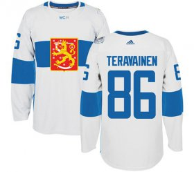 Wholesale Cheap Team Finland #86 Teuvo Teravainen White 2016 World Cup Stitched NHL Jersey