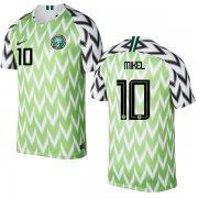 Wholesale Cheap Nigeria #10 Mikel Home Soccer Country Jersey