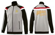 Wholesale Cheap MLB Oakland Athletics Zip Jacket Grey