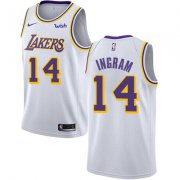 Wholesale Cheap Nike Los Angeles Lakers #14 Brandon Ingram White NBA Swingman Association Edition Jersey