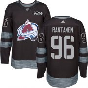 Wholesale Cheap Adidas Avalanche #96 Mikko Rantanen Black 1917-2017 100th Anniversary Stitched NHL Jersey