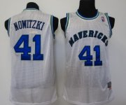 Wholesale Cheap Dallas Mavericks #41 Dirk Nowitzki White Swingman Throwback Jersey