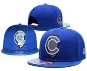 Wholesale Cheap MLB Chicago Cubs Snapback Ajustable Cap Hat GS 6