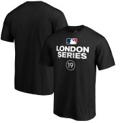 Wholesale Cheap MLB Majestic 2019 London Series Primary Logo T-Shirt - Black