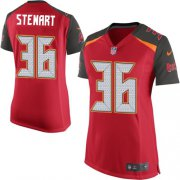 Wholesale Cheap Nike Buccaneers #36 M.J. Stewart Red Team Color Women's Stitched NFL New Elite Jersey