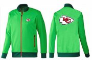 Wholesale NFL Kansas City Chiefs Team Logo Jacket Green