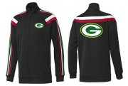 Wholesale Cheap NFL Green Bay Packers Team Logo Jacket Black_2