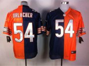 Wholesale Cheap Nike Bears #54 Brian Urlacher Navy Blue/Orange Men's Stitched NFL Elite Split Jersey