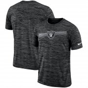 Wholesale Cheap Las Vegas Raiders Nike Sideline Velocity Performance T-Shirt Heathered Black
